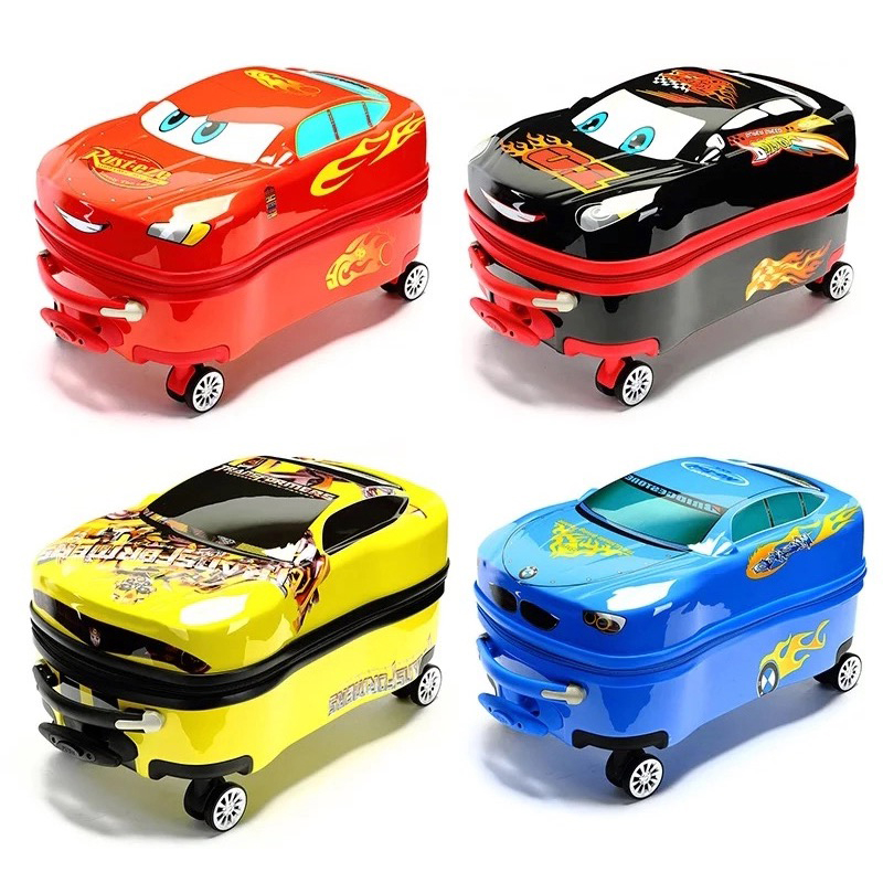 Children trolley suitcase on wheels primary school boys and girls can ride the trolley bag multi