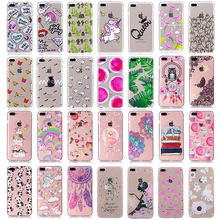 Printed Transparent Pattern Fundas Case For iPhone 6 6S Plus 5 5S SE Case Silicon Coque For Apple iPhone 7 Case Soft Phone Cover(China)