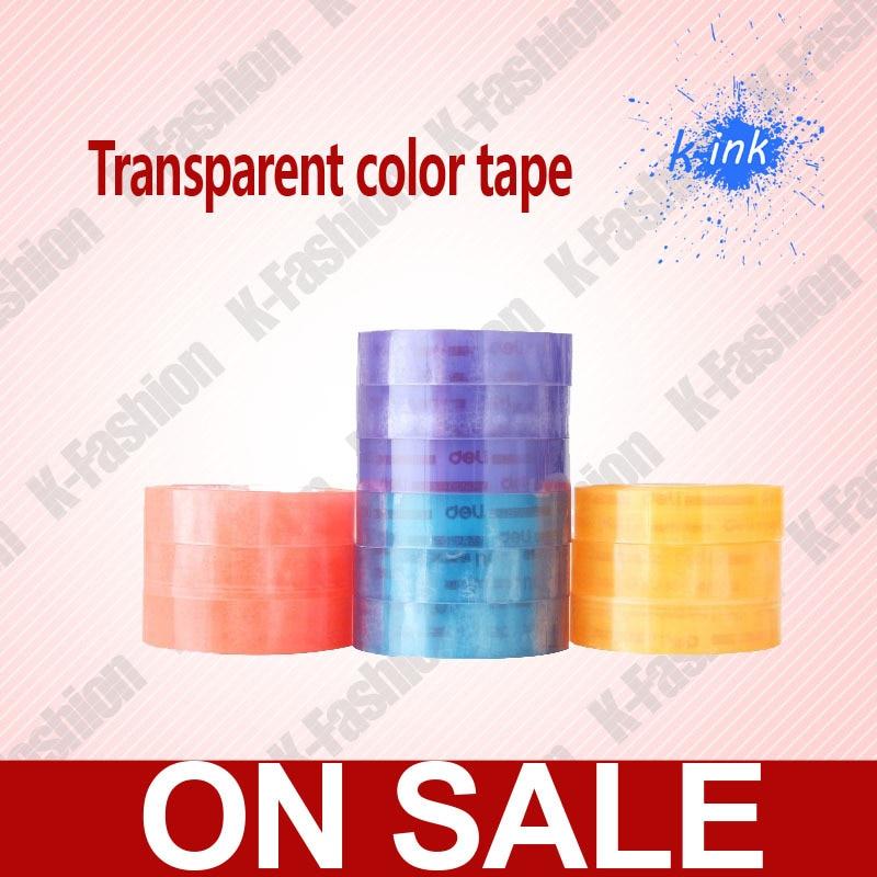 1 компл. 12 рулонов Цвет прозрачная лента, ясно, клейкая лента для школьников, милые Цвет прозрачной клейкой ленты