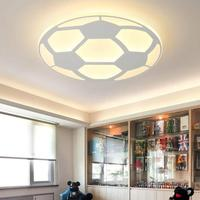Modern Kids Football Lamp Led Ceiling Light With Remote Control Living Room Bedroom Children Room Decor Home Lighting Acrylic