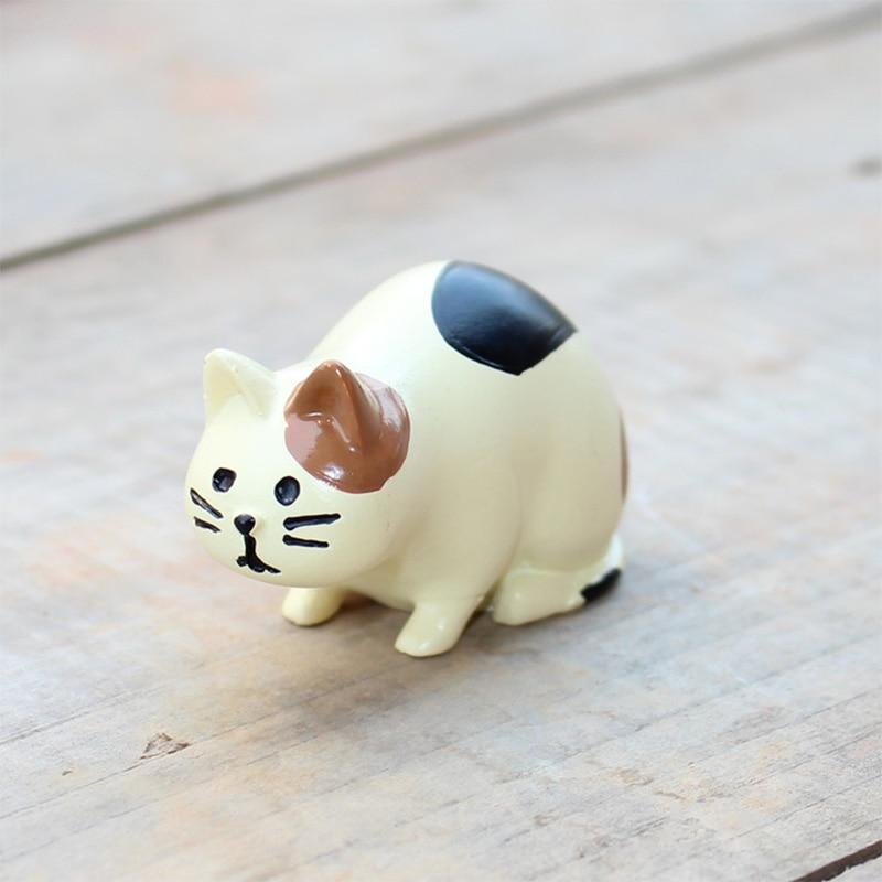 Japan Zakka Decole Cat Miniaturfiguren Tierstatue Dekoration Mini - Wohnkultur - Foto 4