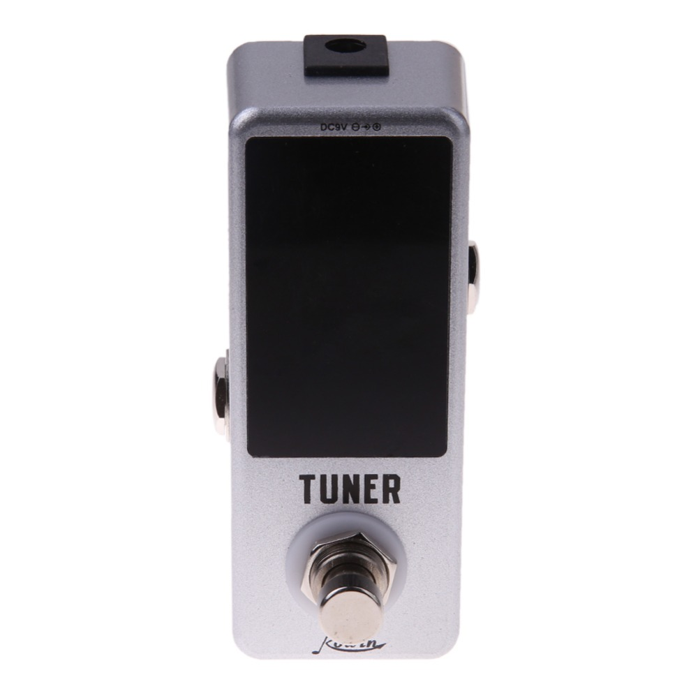 DC 9V Electric Guitar Effect pedal guitar accessories guitar tuner LED Display True Bypass for Guitar Bass 9.5x4x5cm Freeship mooer ensemble queen bass chorus effect pedal mini guitar effects true bypass with free connector and footswitch topper