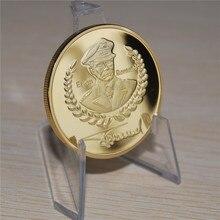 24k gold plated 1oz german coin, Commander Erwin Rommel War Coin free shipping 15pcs/lot free shipping 15pcs yx8018