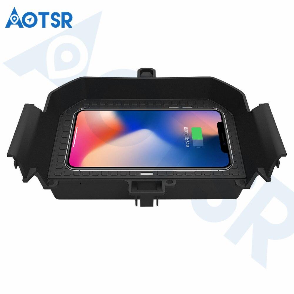 Aotsr chargeur de voiture sans fil pour BMW 5/6 GT 2017-2019 Intelligent infrarouge rapide sans fil voiture de charge pour téléphone/LG/Sangsum/Nokia