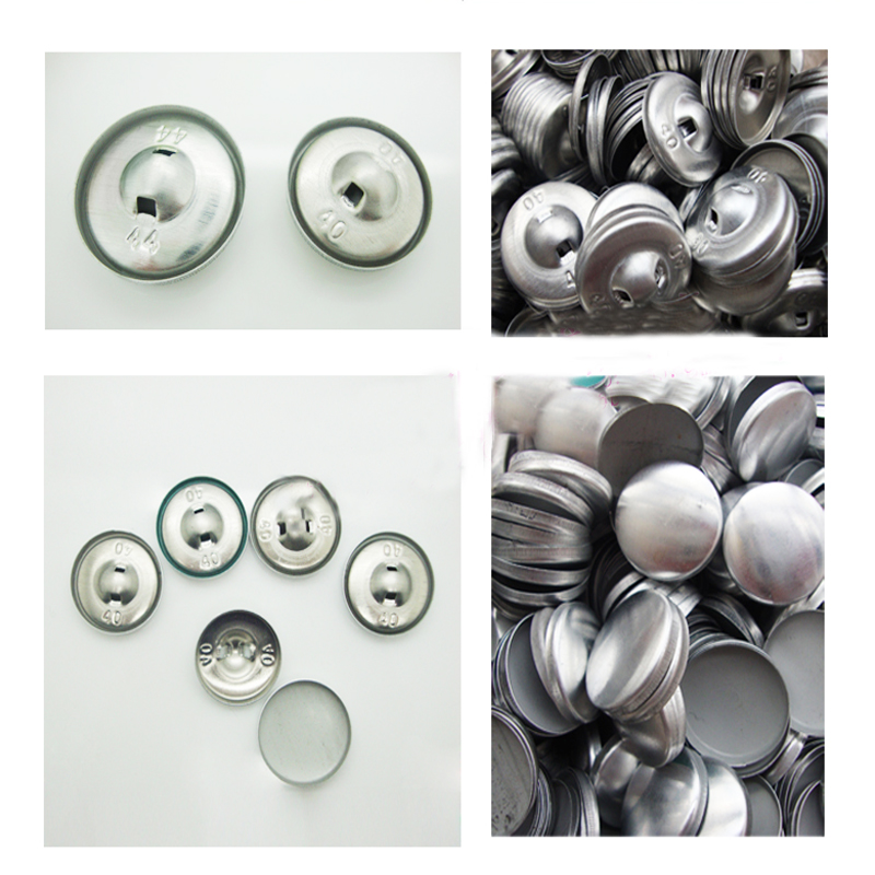 100pr Nickel Self-cover All Metal Button 28/' Buttons And Fastening Haberdashery