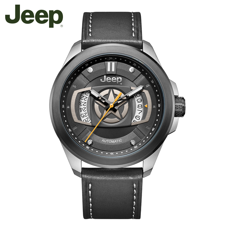 Jeep Original New Arrivals Mens Watch Leather Band Waterproof Automatic Mechanical Business Men Watches JPG92201Jeep Original New Arrivals Mens Watch Leather Band Waterproof Automatic Mechanical Business Men Watches JPG92201