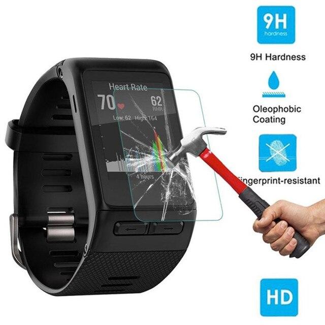2 cái 9 H + Tempered Glass Bảo Vệ Màn Hình Bảo Vệ Film Đối Với Garmin Vivoactive HR thiết bị đeo relogio inteligente horloge