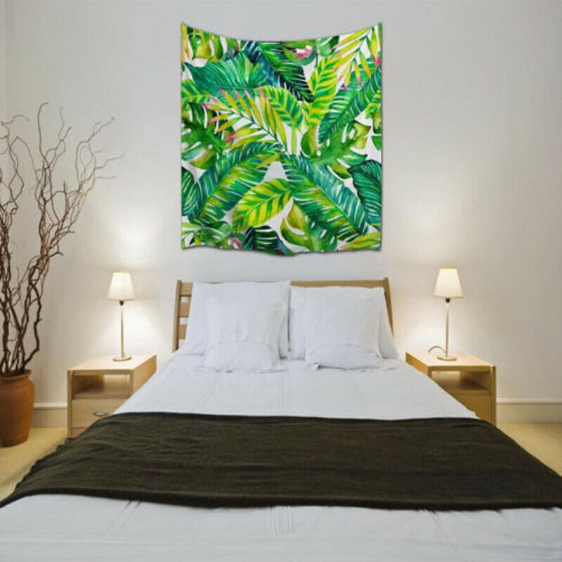 Home Garden Indian South Asian Tapestries Tropical Rainforest Leaves Tapestry Wall Hanging For Living Room Bedroom Decor Institut Pyrene Fr