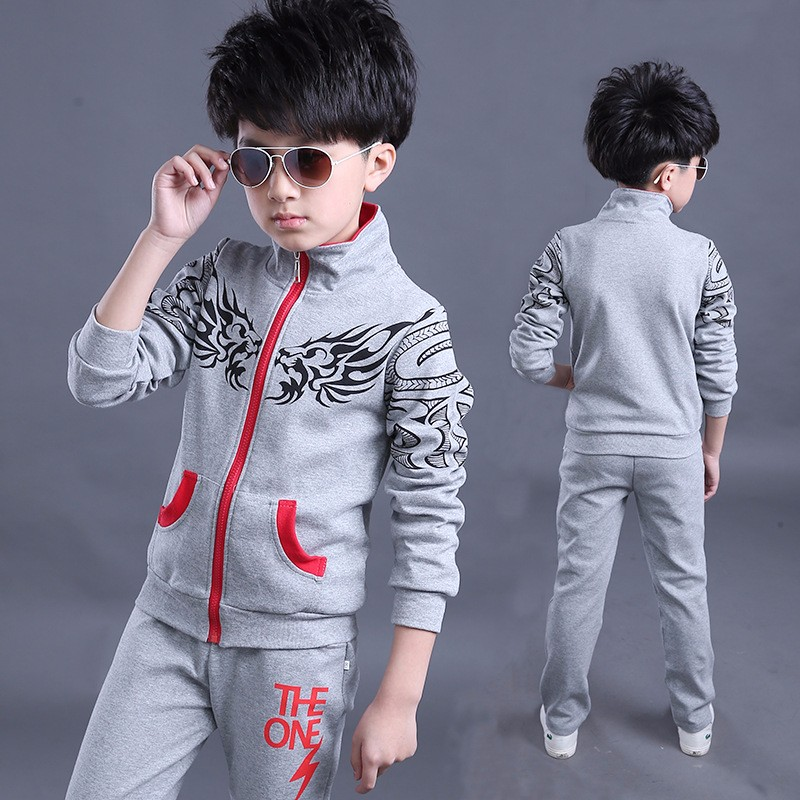 boys and girls child sports suit boys 2 piece set hoodies enfants pantalon 2 pcs enfants sport set