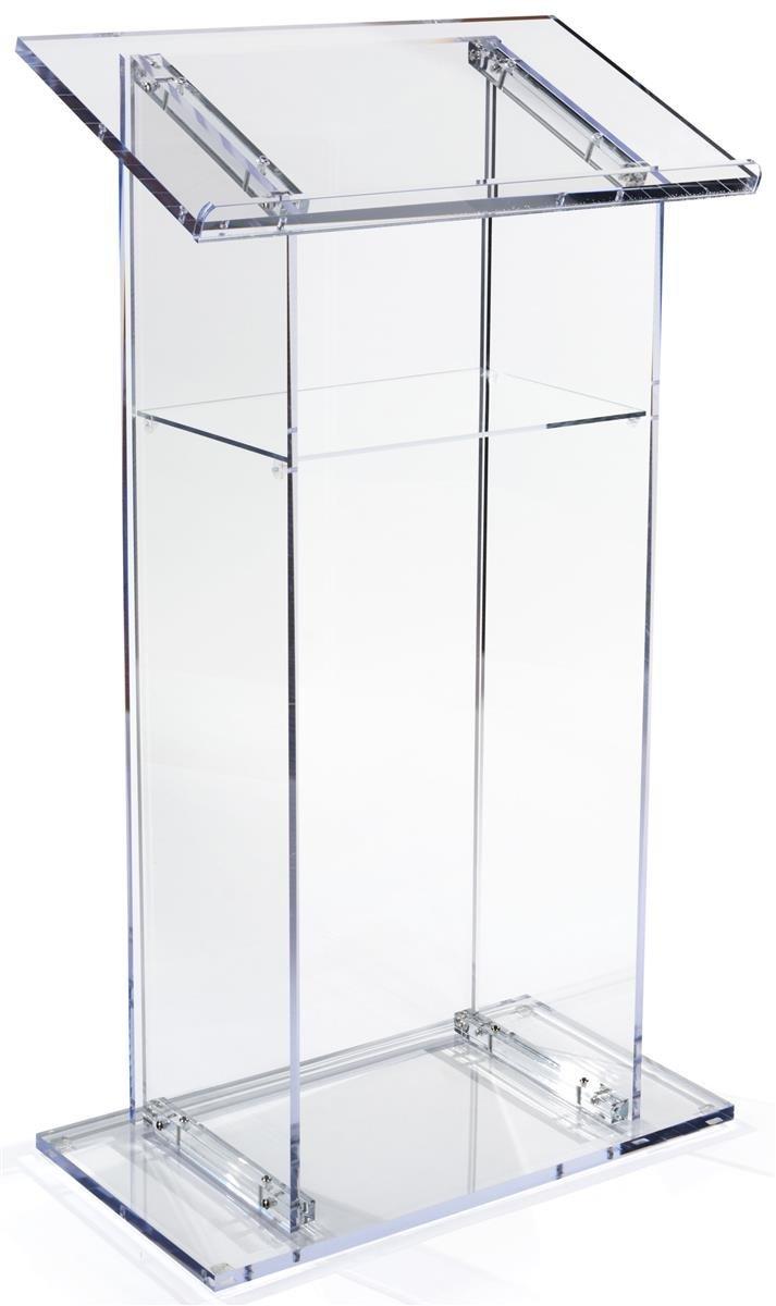 Atril de acrílico transparente, pódio de apresentação com - Mobiliário - Foto 2