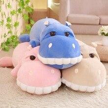 25/60/85 Cm Hippo Plush Toy Stuffed Animal Smiling Big Teeth Hippo Cotton Pillow Cushion Plush Toy For Children Climbing брюки hippo hoppo