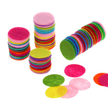 200 PCS 2.5CM Eco-friendly Round Felt Fabric Pads Accessory Patches Circle Flower Accessories