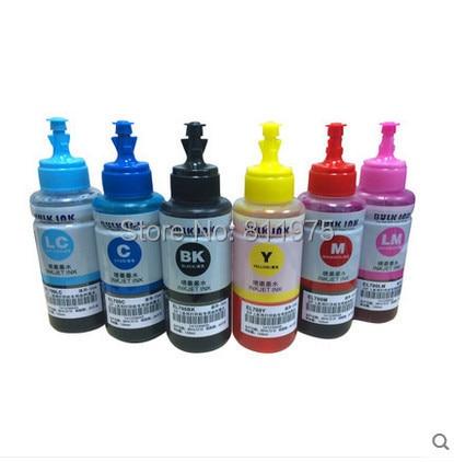 Tinta base No OEM 6 colores Refill Kit de tinta 70 ml para Epson L800 L801 cartucho de tinta de impresión No. t6731/2/3/4/5/6