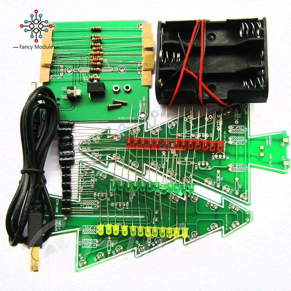Three Dimensional 3d Christmas Tree Led Diy Kit Red Green Yellow Simple Intercom Using Transistors 030111 C 2