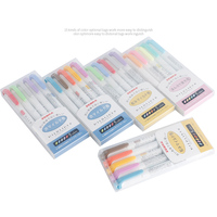 Zebra Mildliner 5 Stks/set Mildliner Pennen Markeerstift Milde Liner Double Headed Fluorescerende Pen Tekening Mark Pen Briefpapier