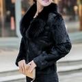 fur coat Winter Black White Faux Fur Coat Women pelliccia ecologica manteaux fausse fourrure longs solid thick fashion 67285