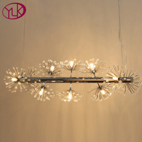 Creative Design Home Decor Hanging Crystal Light Fixture Fashion Modern Crystal Chandelier For Dining Room Coffee