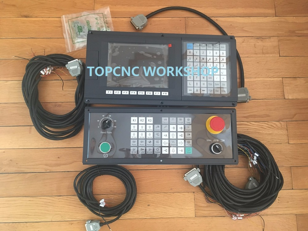 3 Axis New Version English Panel CNC controller for lathe and grinding machine stepper servo G-code with side panel 3 axis servo stepper cnc lathe controller 18di 8do 50khz 32bit multifunction controller for milling machine new original
