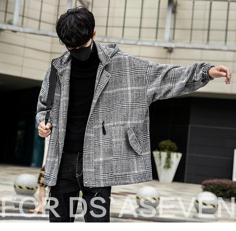 Male Long Coat Oversize Lapel Button Sobretodos Hombre Overcoat Streetwear (19)