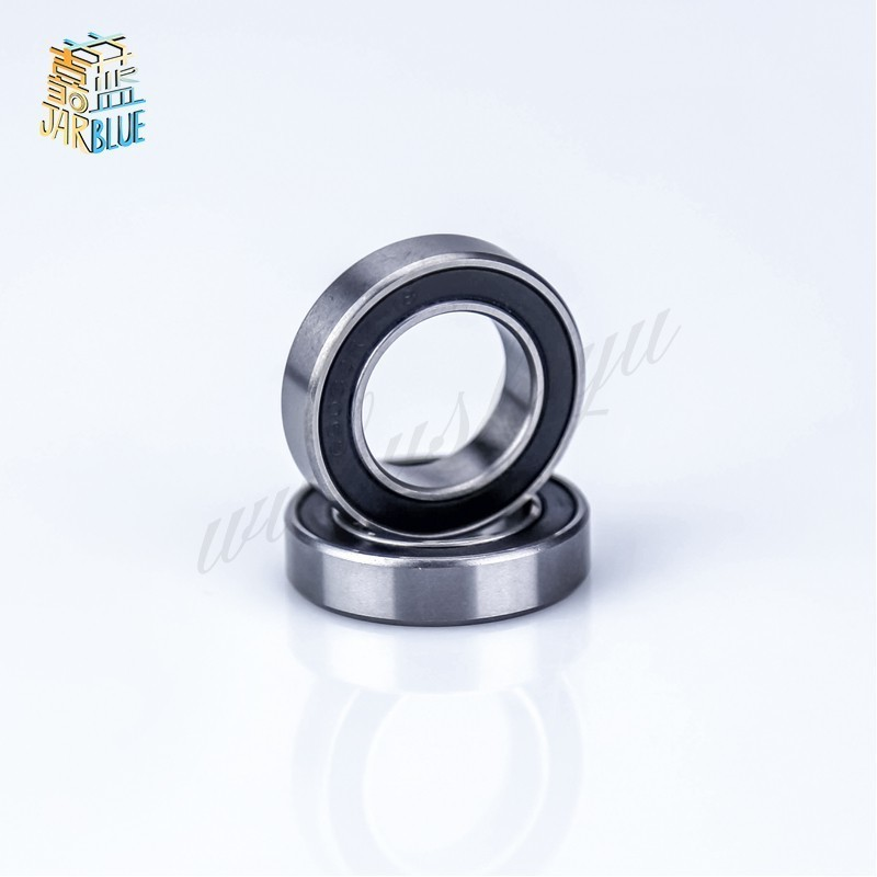 Free Shipping 2pcs  17*26*5mm Si3N4  Rubber Sealed 440 Stainless Steel Hybrid Ceramic Ball Bearings S6803 6803 2RS CB Bike Part