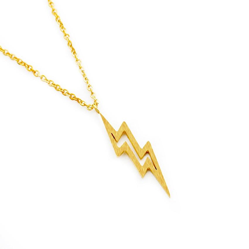 GORGEOUS TALE Fashion Stylish Tiny Bolt Necklace Lightning Thunder Minimalist Dainty Jewelry Accessories For Women Men Gift 2017