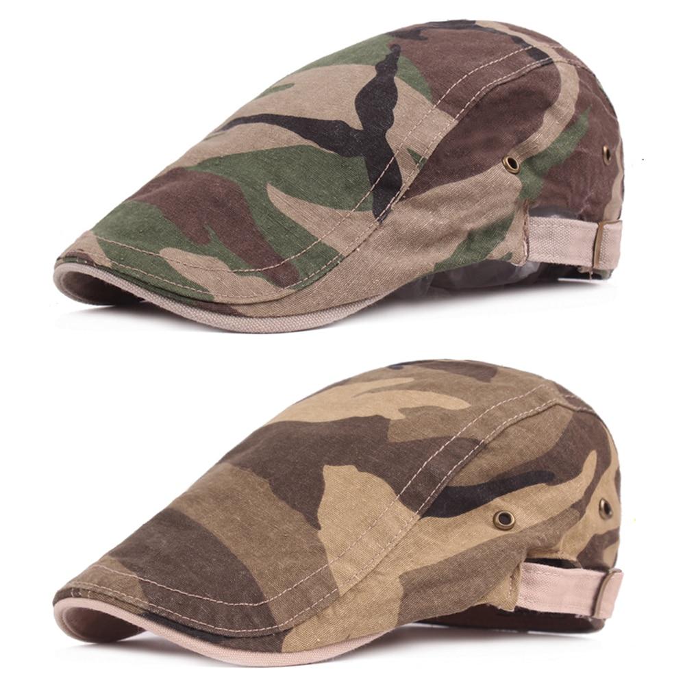 Men Camouflage Military Cotton Beret Cabbie Newsboy Hat Ivy Golf Driving Cap NEW HATCS0532