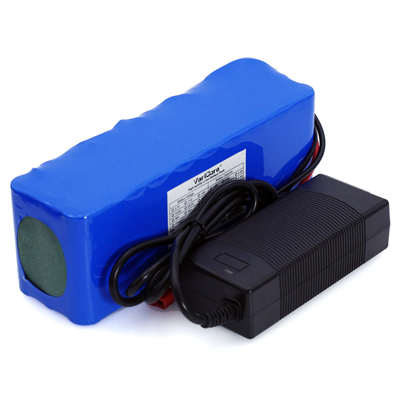 VariCore 36 v 10Ah 10S3P 18650 batterie 500 W batterie de vélo modifiée batterie de voiture électrique 42 V batterie au lithium + 2A chargeur