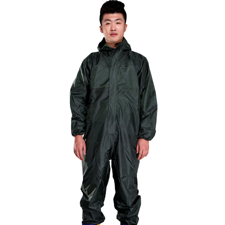 Men Waterproof Overalls Hooded Rain Coveralls Work Clothing Dust-proof Paint Spray Male Raincoat Workwear Safety Suits M-XXXL (10)
