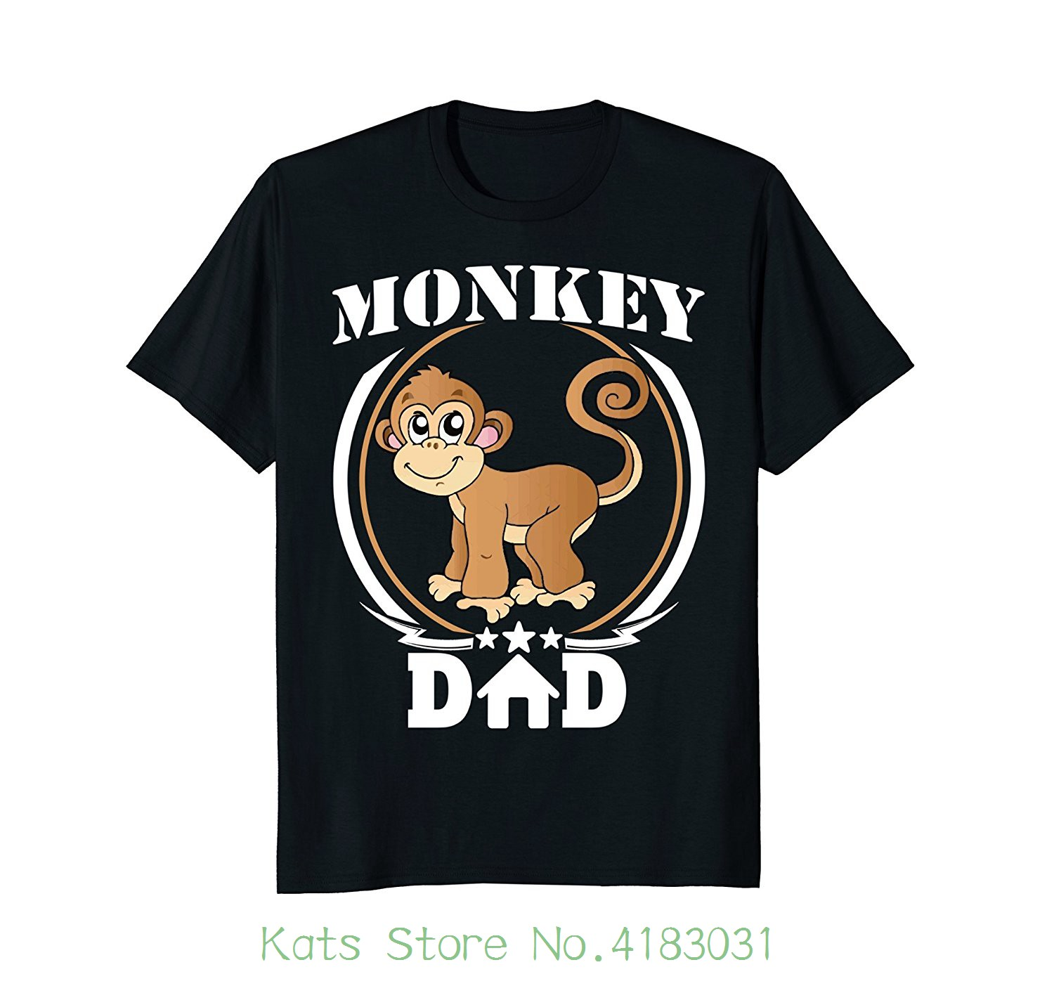 Mens Monkey Dad T-shirt Perfect Gifts For Fathers Day 2018 Animal Cool Slim Fit Letter Printed