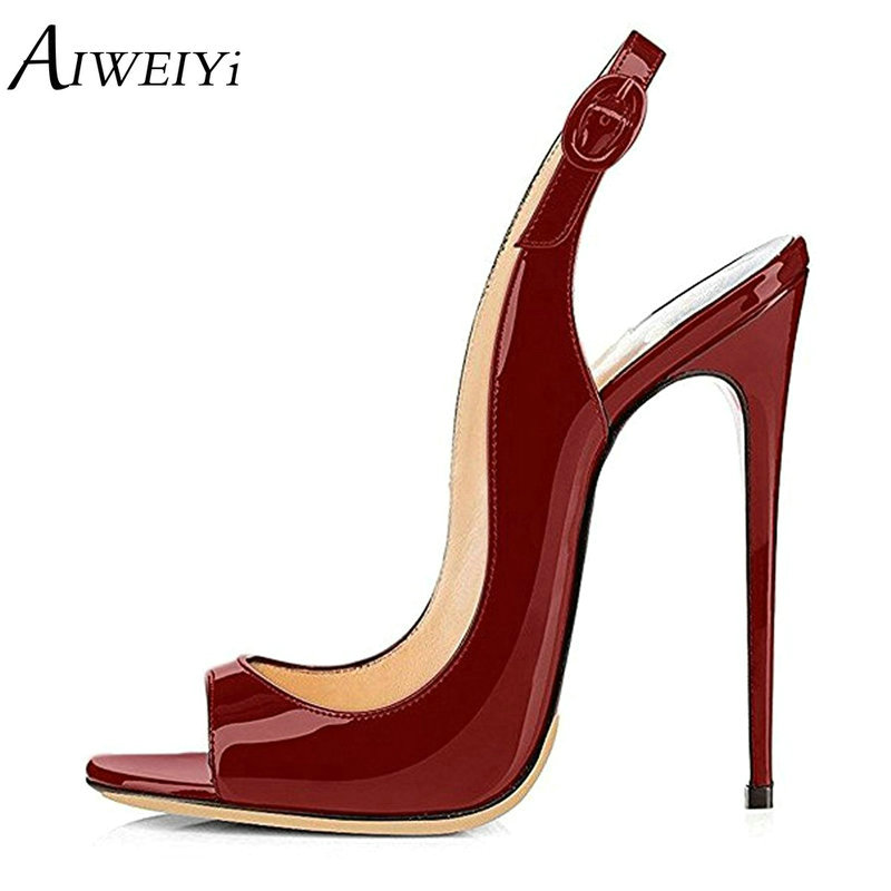 AIWEIYi Woman Shoes 2018 Summer Lady Sandals Stiletto High Heels Sandalias Mujer 12cm Office Lady Sandalia Feminina Party Pumps 2018 new arrival shoes woman stiletto zapatos mujer sandals chaussure femme ankle high heels party pumps sandalias femininas