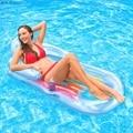 Летние каникулы плавания надувная плавающая кровать бассейн шезлонги воды плавающий ряд спинки кресло с подлокотником подстаканник
