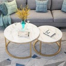 Популярный современный дизайн Золотой металлический круглый чайный столик для гостиной журнальный столик торцевой столик