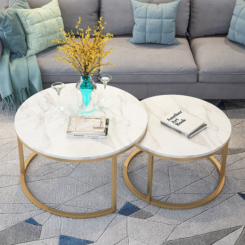 Us 199 0 Por Modern Design Gold Metal Round Tea Table Living Room Side Coffee End In Tables From Furniture On Aliexpress