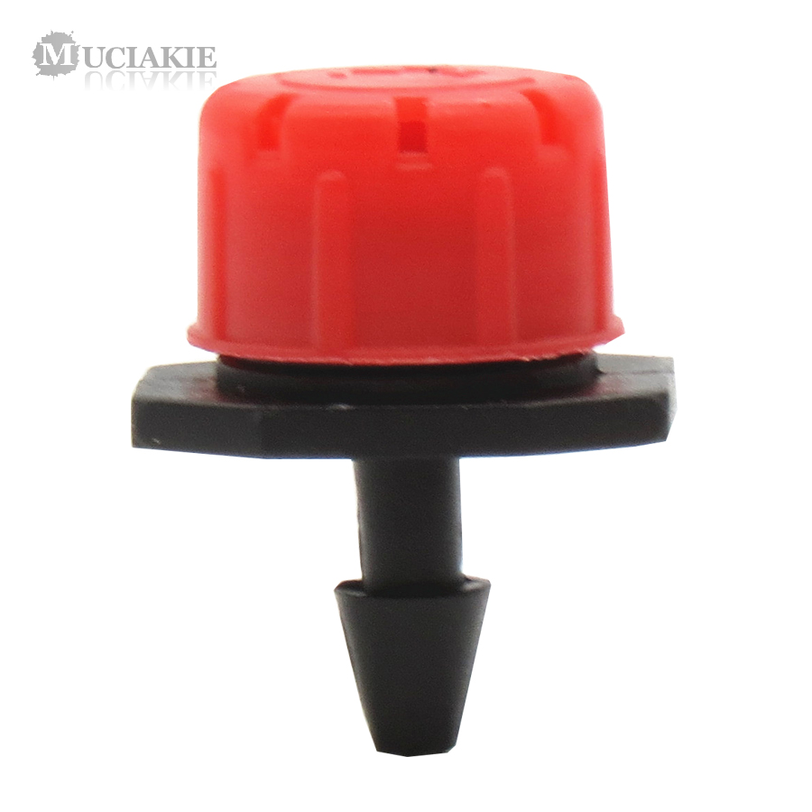MUCIAKIE 1000PCS Red Adjustable 8 Hole Dripper with 1 4 Barb Connecter Garden Irrigation Water Dropper