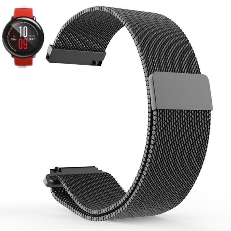 SIKAI Universal 20mm Stainless Steel Watch Straps Bracelets For Huami Bip BIT PACE Lite Youth Watch For Xiaomi Amazfit BIT Band 20mm milanese loop stainless steel watchband for xiaomi huami amazfit bip bit pace lite youth smart watch band wristband strap