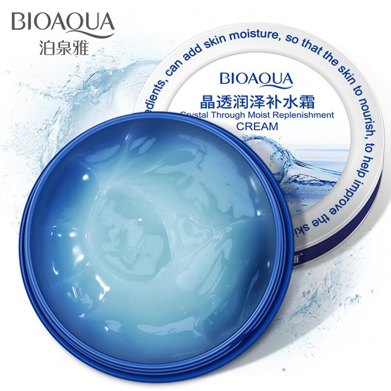 BIOAQUA Brand Face Crystal Moisturizing Face Cream Skin Care Lifting Firming Anti Wrinkle Whitening Hyaluronic Acid Cream 38g