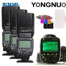 YONGNUO 3x YN-600EX-RT II 2,4G Wireless HSS 1/8000 s Master-Speedlite + YN-E3-RT Flash Trigger für Canon EOS Kamera 5D 6D