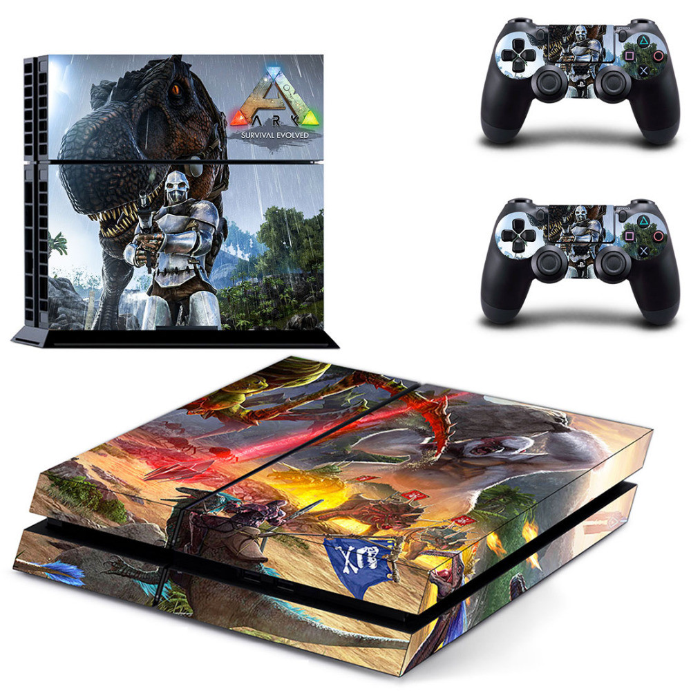 Game ARK Survival Evolved PS4 Skin Sticker Decal for Sony PlayStation 4 Console and Controller Skin PS4 Sticker Vinyl Accessory