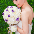 2017 Cheap Colorful Bride Holding Flowers New arrival Romantic Wedding Bride Bouquet Red Pink Blue and Purple Bridal Bouquets