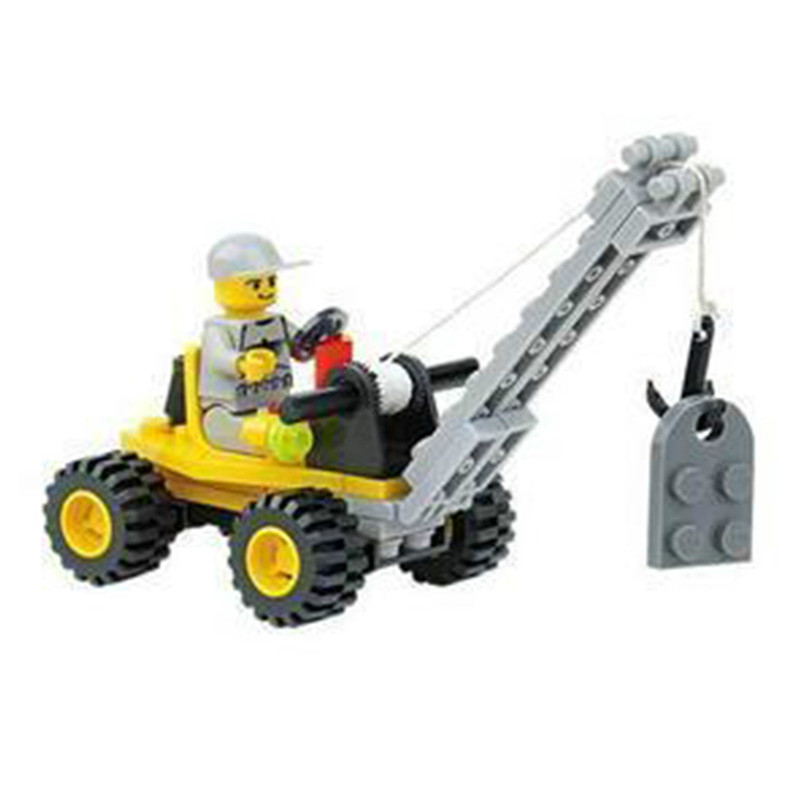 city engineering truck 51pcsset diy building blocks toy mini crane action figure children toy with legoes city kids toy