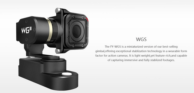 Feiyu fy wgs 3-aixs usable estabilizador de montaje de cámara del cardán para gopro hero 4 session deportes cámara