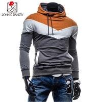 John S Bakery 2017 New Brand Hoodies Men Sweatshirt Male Stitching Hooded Hip Hop Long Sleeve