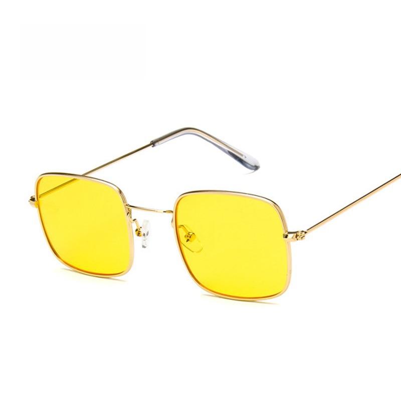 Vintage Small Square Sunglasses Women Retro Pink Clear Lens Sun Glasses Lady Retro Sunglasses Female Ocean Eyewear Oculos De Sol