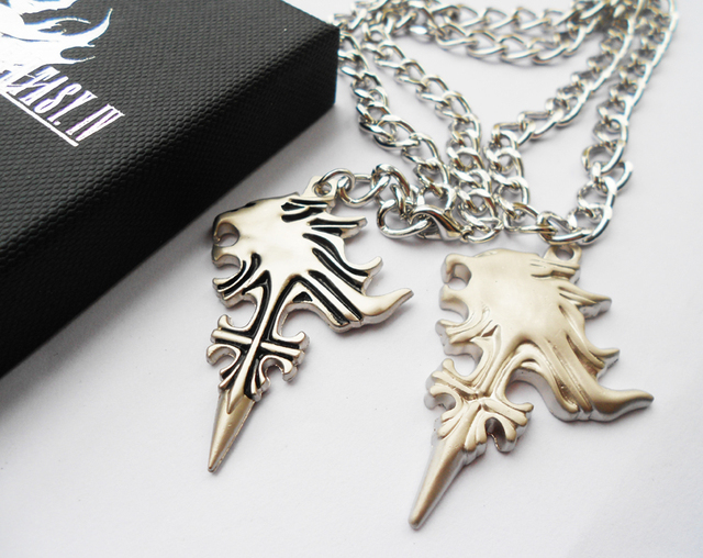 1 piece game final fantasy iv 4 cloud wolf logo cosplay necklace 1 piece game final fantasy iv 4 cloud wolf logo cosplay necklace pendant metal silver fashion mozeypictures Image collections