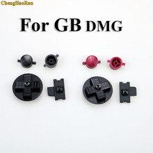 ChengHaoRan Juego de botones para manualidades, negro y rojo, reemplazo para Gameboy Classic para GB DMG A B, botones d pad