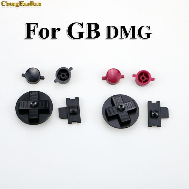 Chenghaoran 1 세트 블랙 레드 세관 diy 버튼 gb dmg a b 버튼 d 패드 버튼 용 게임 보이 클래식 교체 세트
