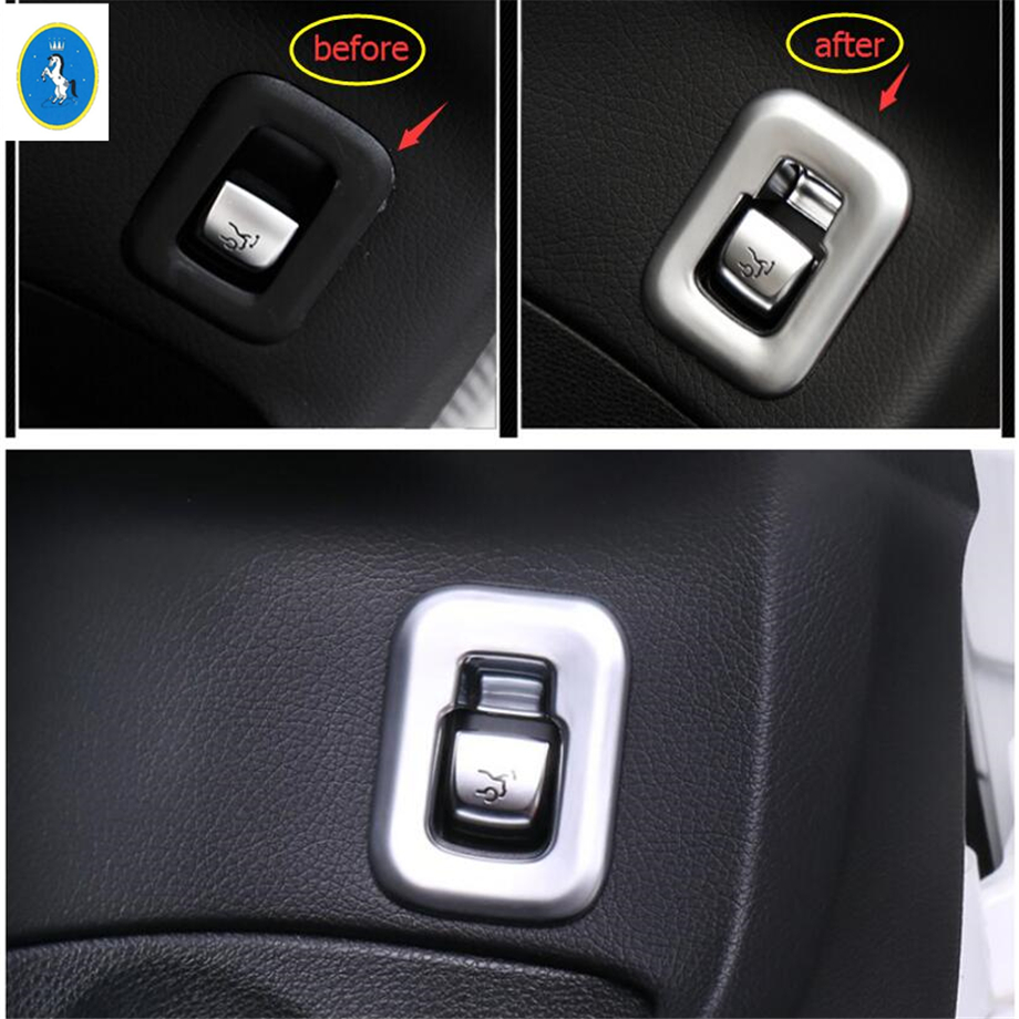 Yimaautotrims Auto Accessory Rear Trunk Tailgate Door Switch Button Cover Kit Trim Fit For Mercedes Benz GLC X253 2016 - 2019