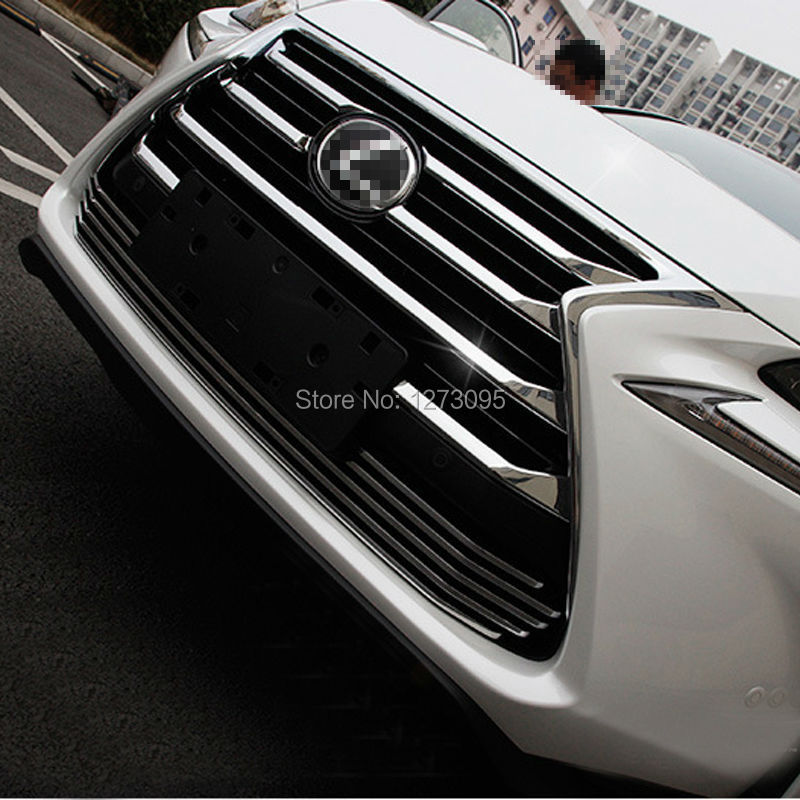 ABS Chrome Front Upper Grille for 2015 2016 Lexus NX 200 NX200T NX300H Center Grill Cover Around Trim Car Styling Accessories new abs chrome 3d 85mm red growler front grill grille emblem badge roundel fit for jaguar xf