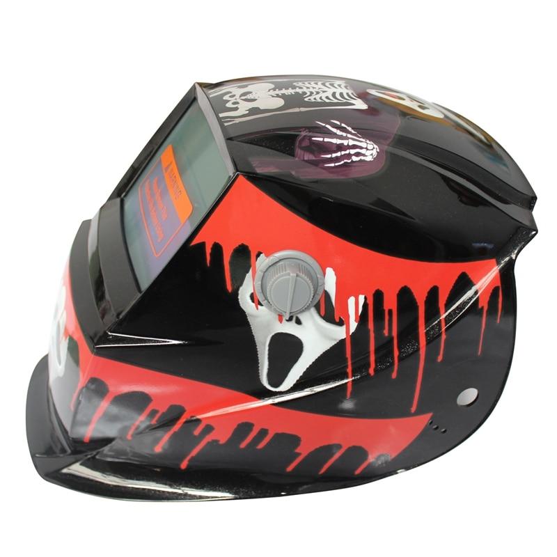 (tropfen Verschiffen) 2018 Neue Pro Solar Schweißer Maske Auto-verdunkelung Schweiß Helm Muster Scarlet Geist Extrem Effizient In Der WäRmeerhaltung