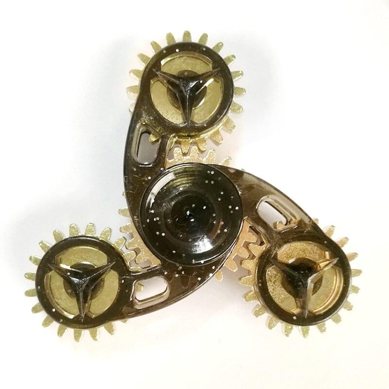 BEIJILE New Style Fidget Spinner Metal Hand Spinner Nice Bearing Alloy Gear Finger Spinner Anti Stress